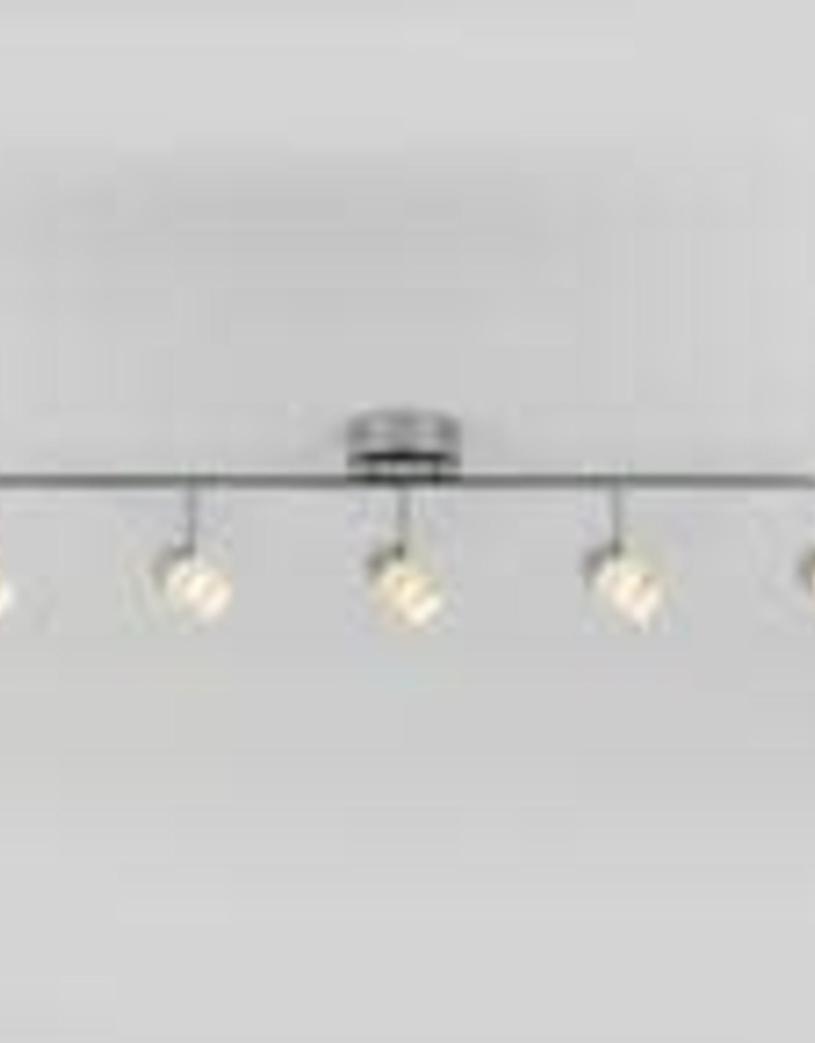 artika essence 4 ft 5 light chrome integrated led fixed track lighting kit