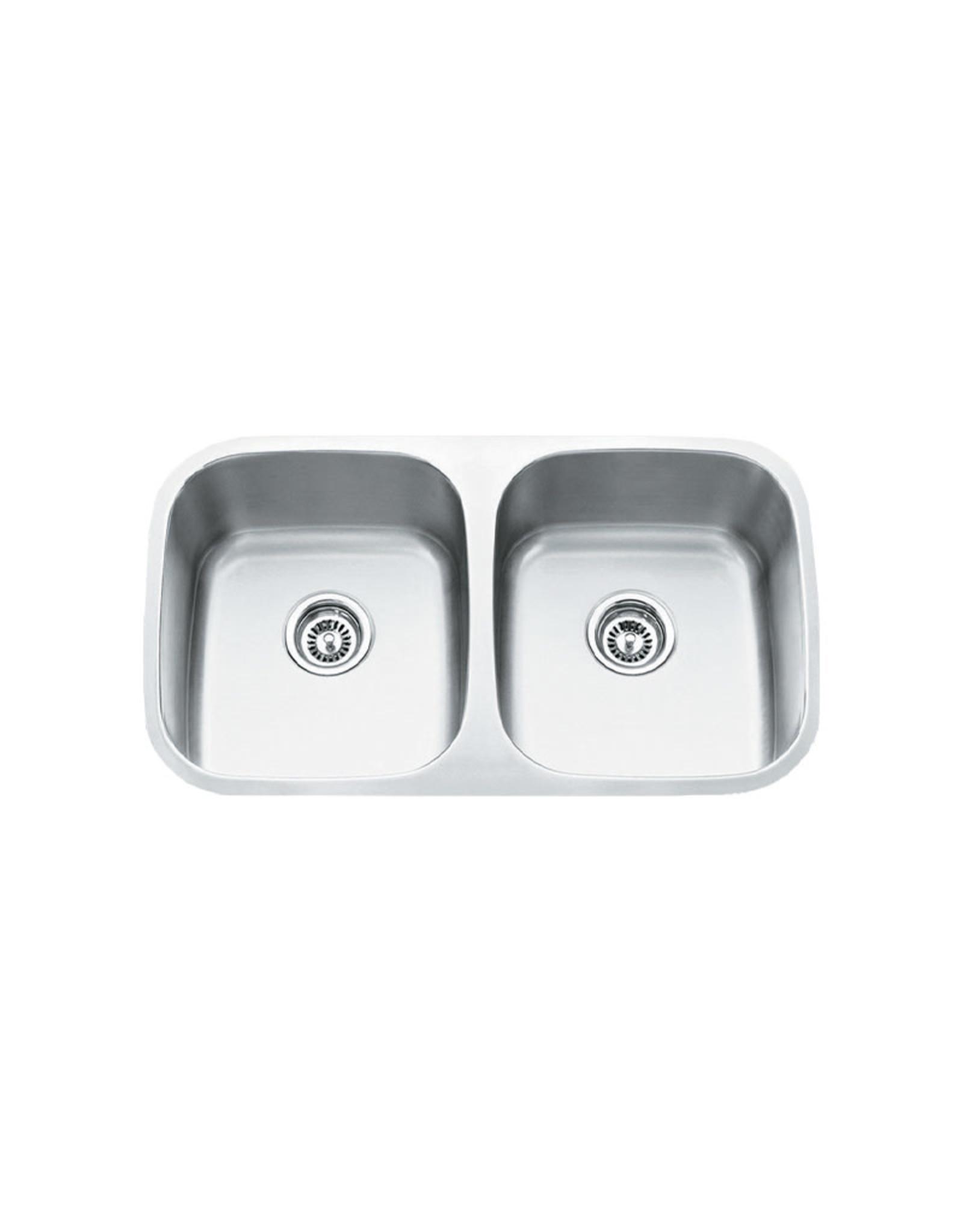 vogt vogt modena undermount kitchen sink double bowl 50 50 32 x 18 x 9