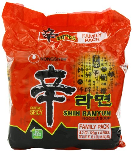 Nongshim Shin Ramyun Noodle Soup 42 Ounce Pack of 24