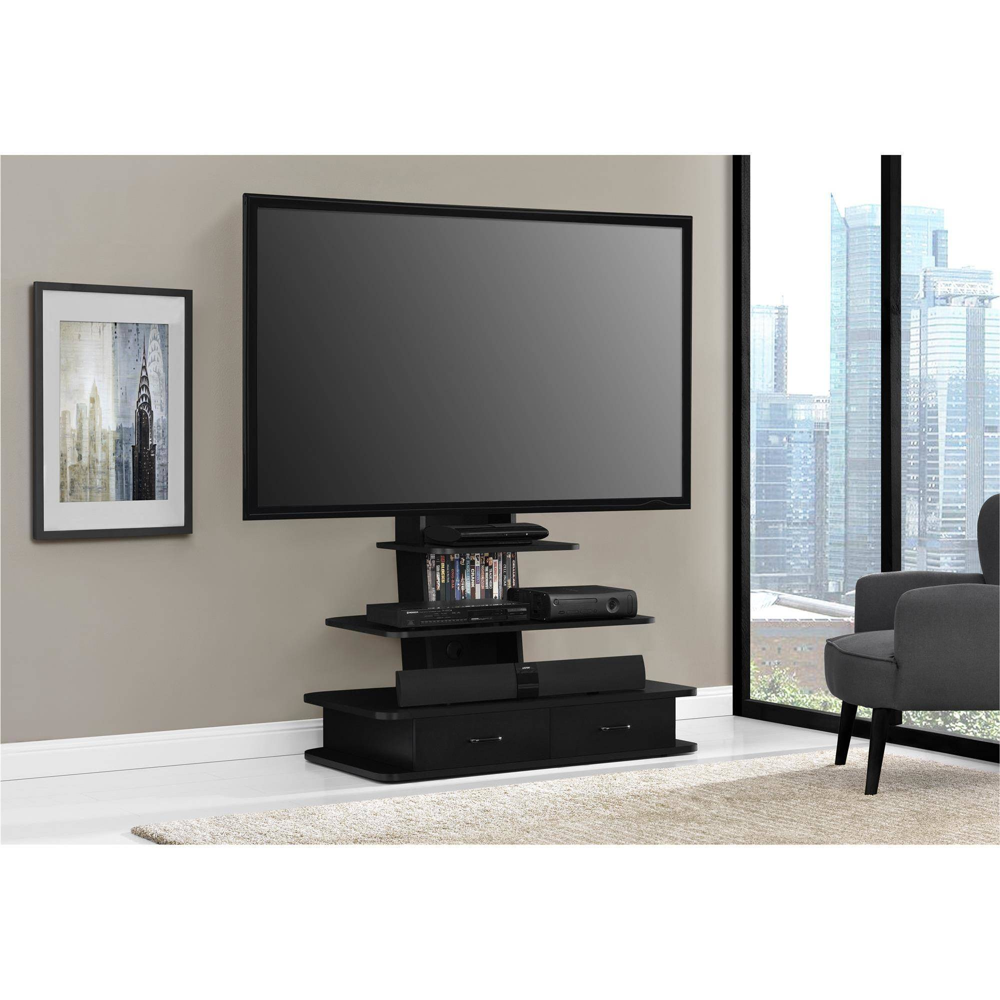 Altra Furniture Galaxy TV Stand With Mount And Drawers 70