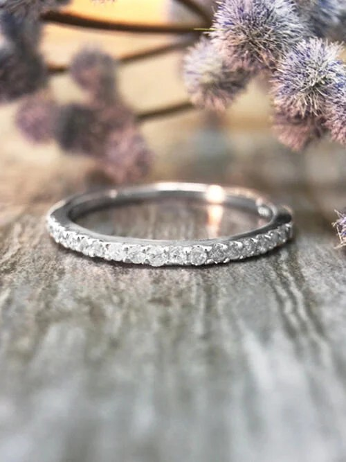 16MM Diamond Solid 14K RG Affordable Engagement Ring