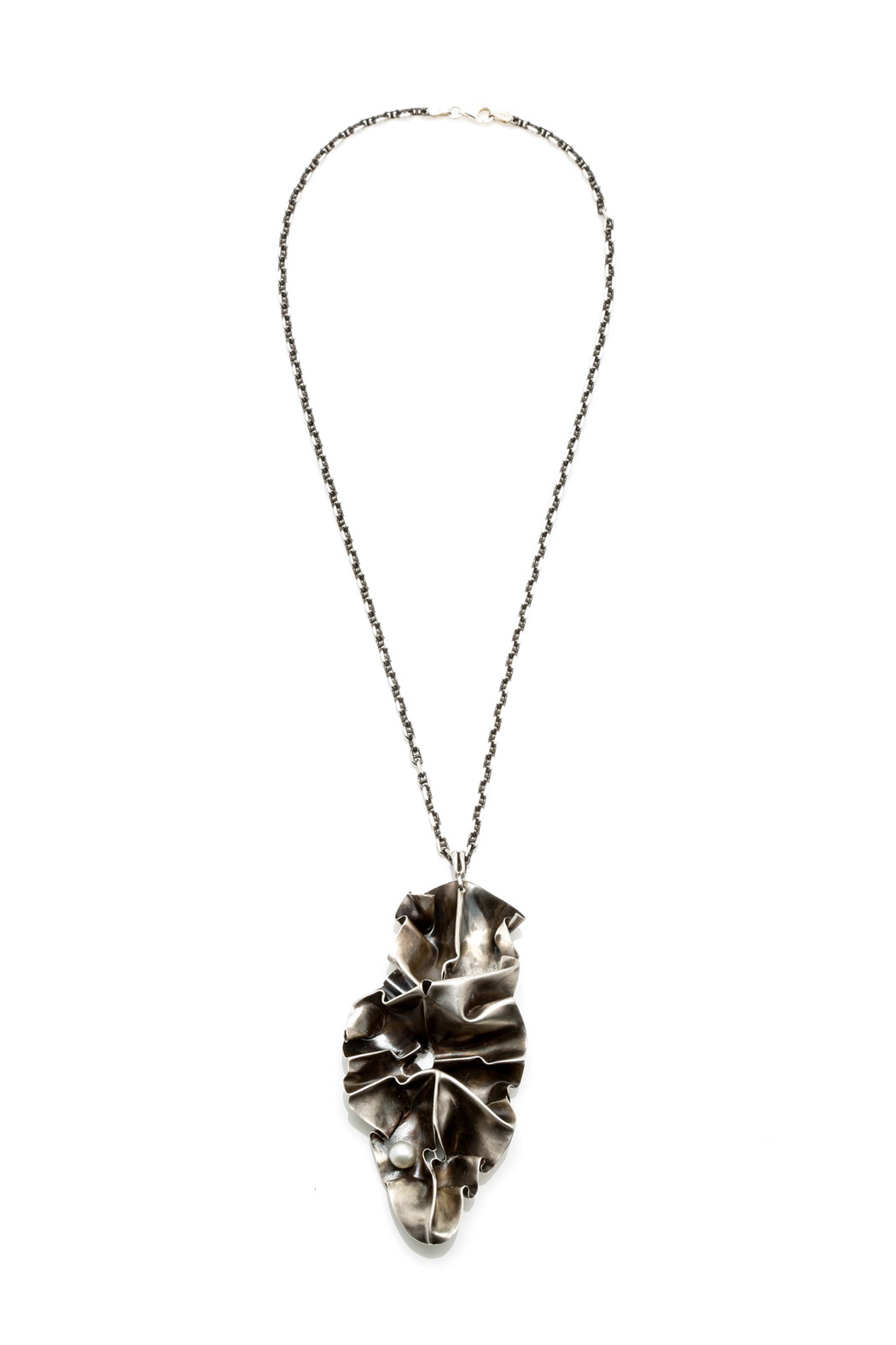 Lynn Costello Folded Silver Statement Necklace From Cape