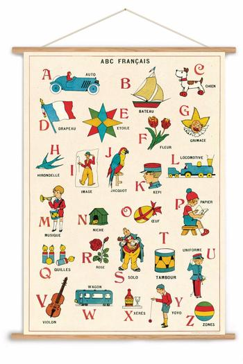 WRARE French Alphabet Chart from Dallas — Shoptiques