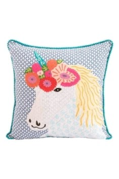 Karma Living Unicorn Pillow - Front cropped