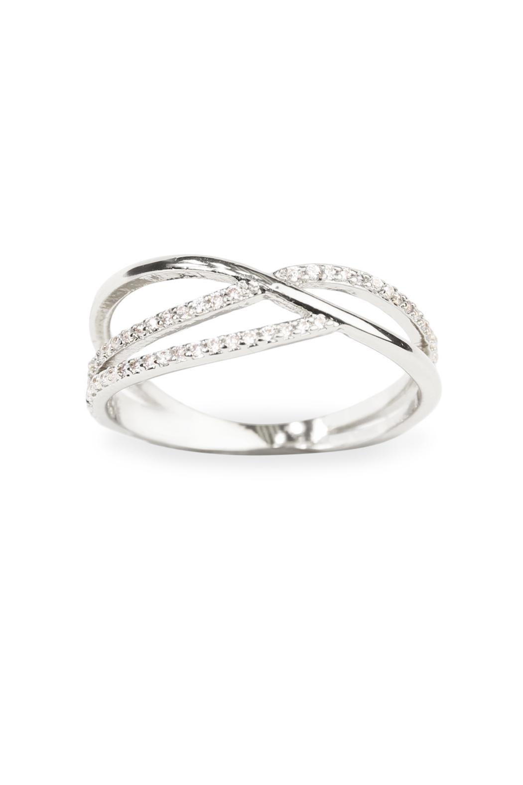 Riah Fashion Infinity Wave Closed Ring From California