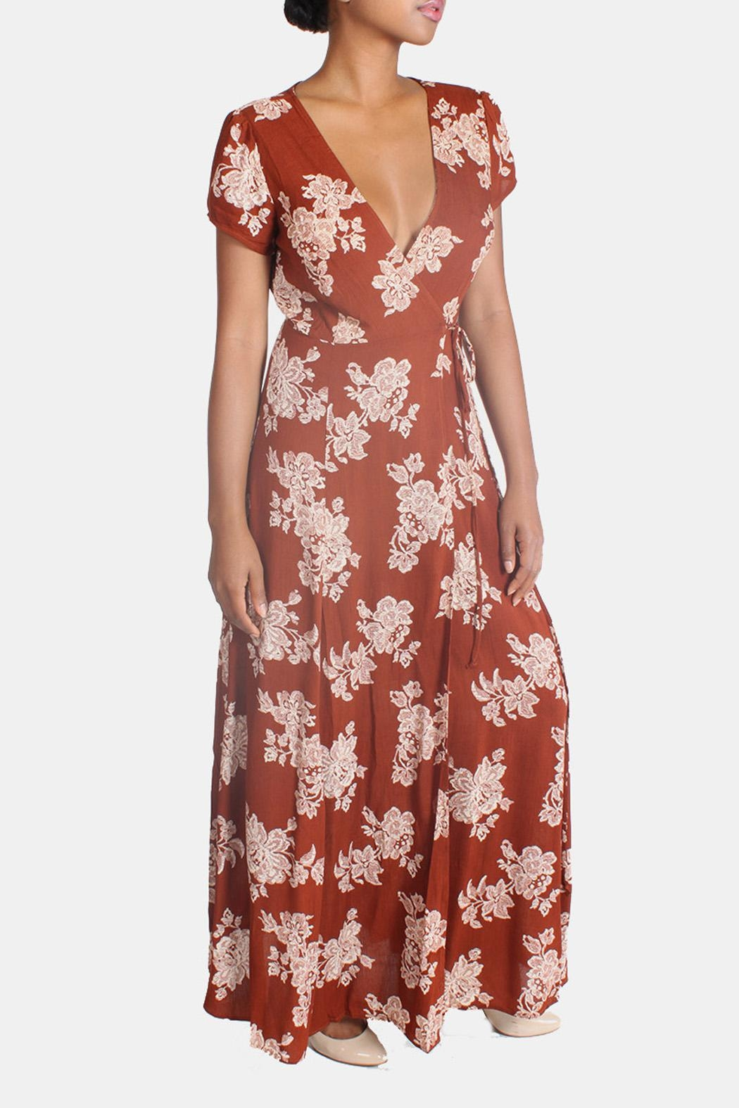 Rokoko Floral Wrap Dress From Los Angeles By Goldies