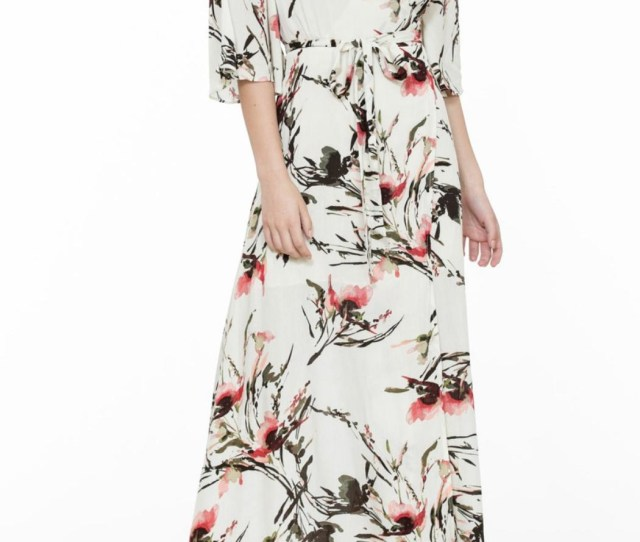 The Room Wrap Maxi Dress Front Cropped Image
