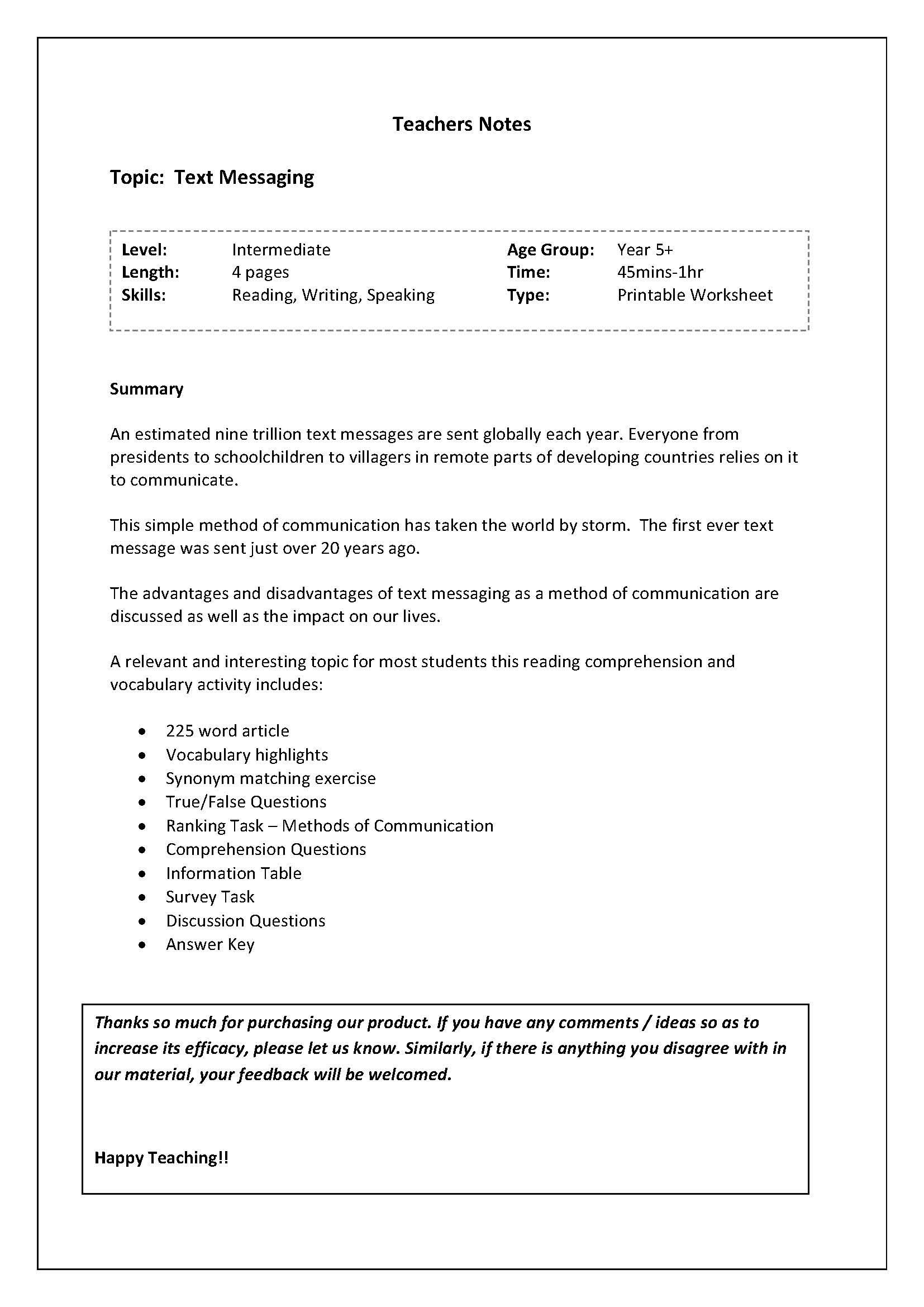Reading And Vocab Worksheet Brief History Of Text