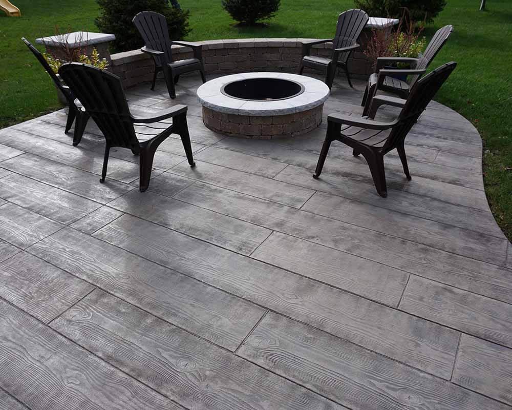 stamped concrete patio ideas porch area