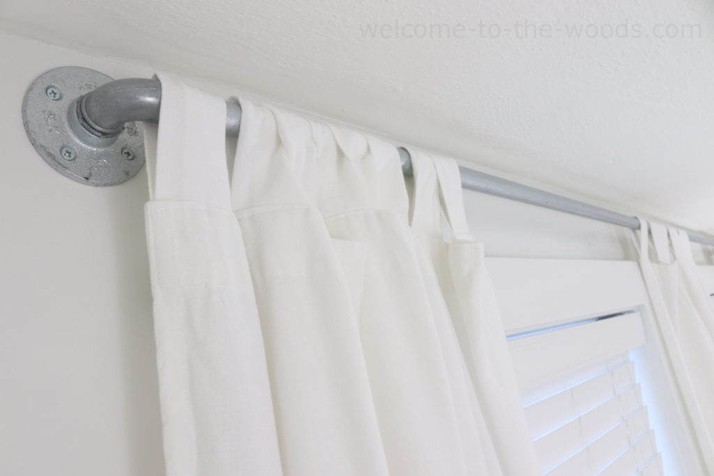 conduit curtain rod hack