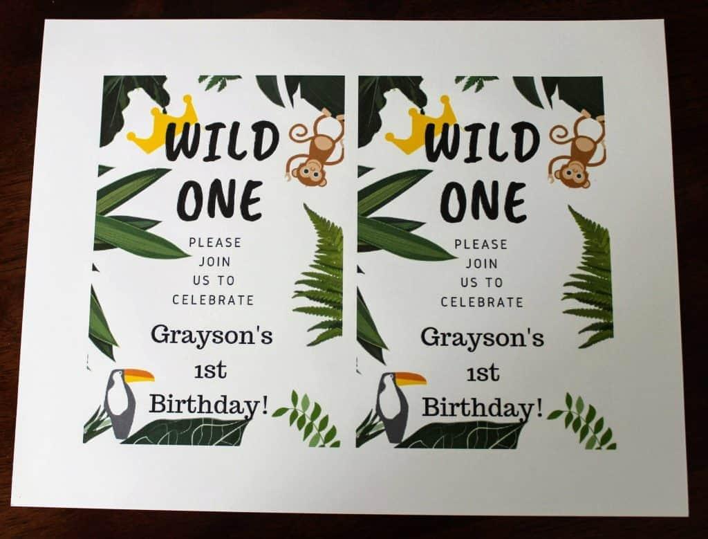 customizable wild one birthday
