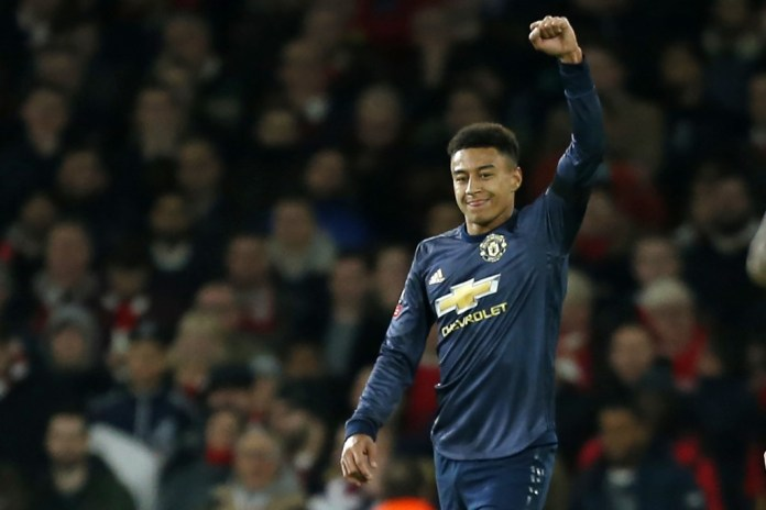 Lingard steals the show (Photo by IAN KINGTON/AFP/Getty Images)