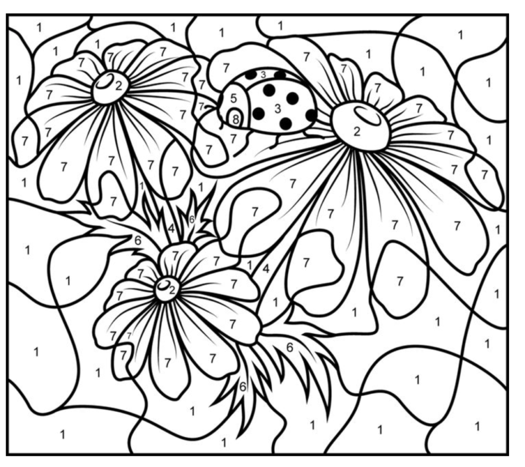10 Free Printable Paint By Numbers For Adults