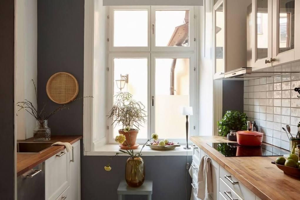 thiết kế nhà bếp màu xám