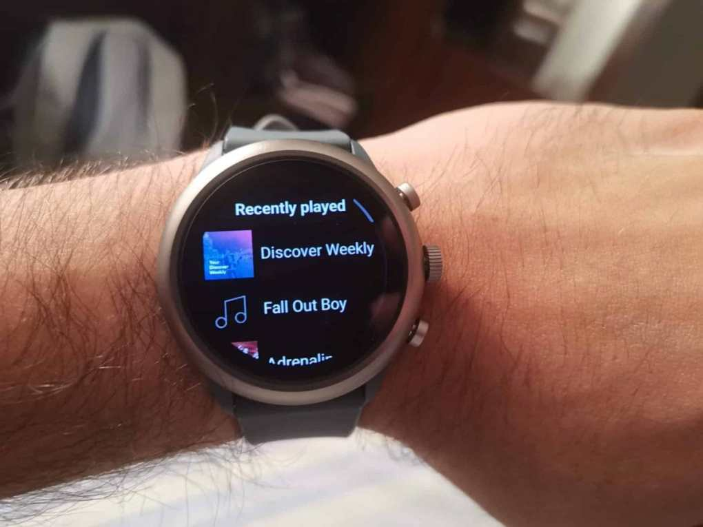 spotify no smartwatch, um smartwatch