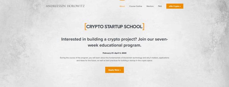 Crypto Startup School