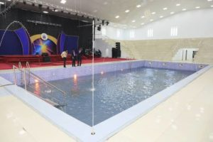 Swimming pool church