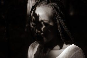black girl, sad, shame