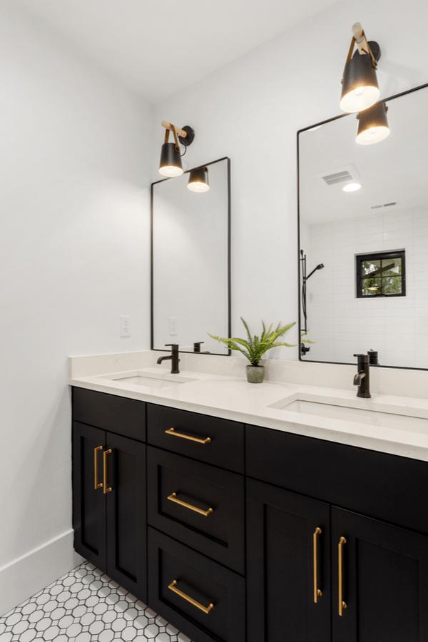 Modern Farmhouse Bathroom Ideas By Joanna Gaines - Pickled ... on Bathroom Ideas Modern Farmhouse  id=97494