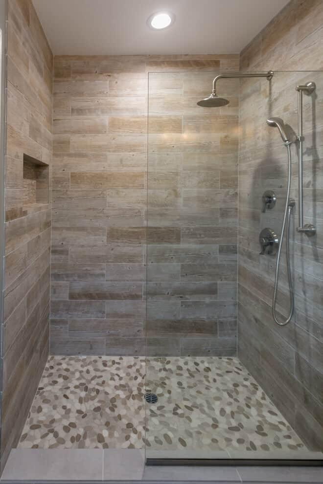 44 Best Shower Tile Ideas and Designs for 2019 on Bathroom Tile Designs  id=88005