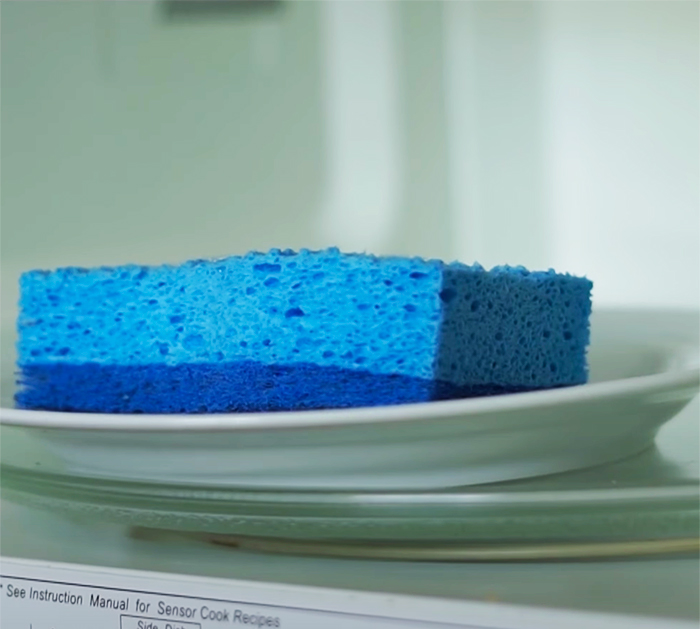 how to sanitize kitchen sponge in 2 minutes