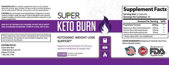super keto burn facts