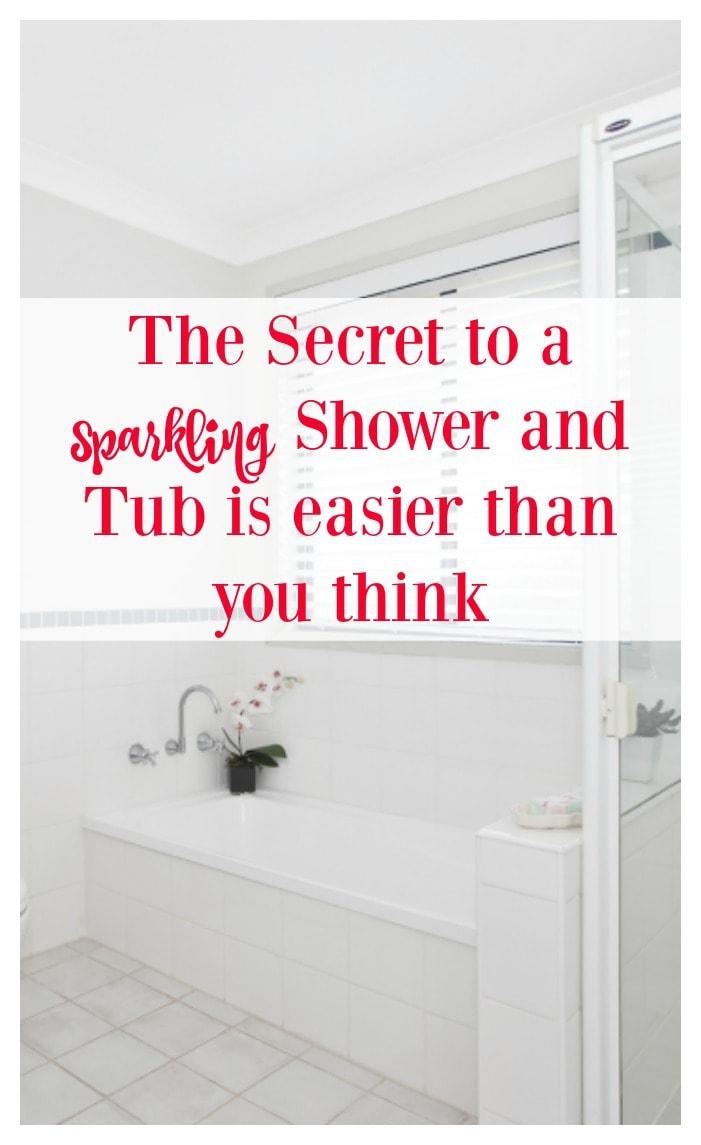 easy diy soap scum and bath tub cleaner