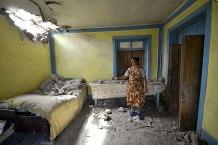 Civilians flee the fighting between Armenia and Azerbaijan