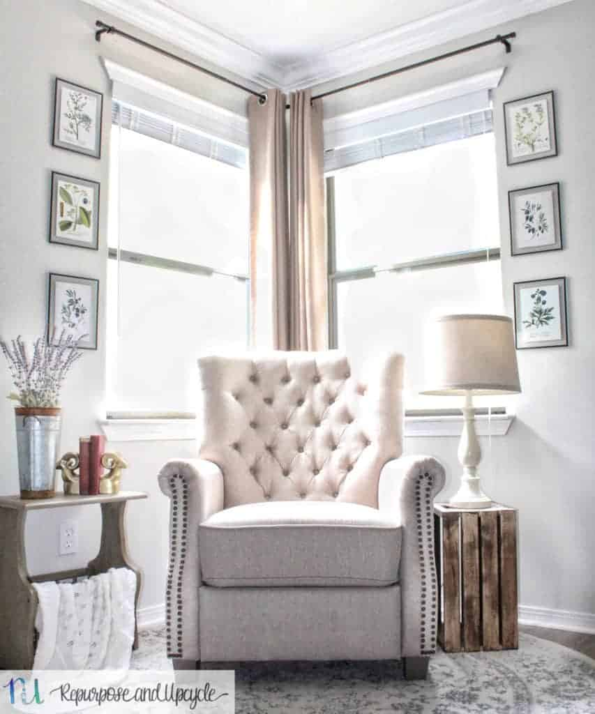 Transforming A Room With Corner Curtains And A Corner Curtain Rod Hack