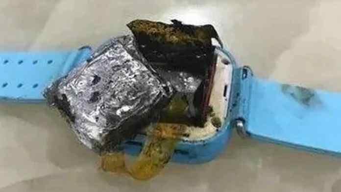 smartwatch explode