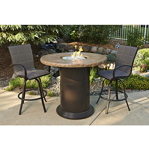 bar height fire pit table sets