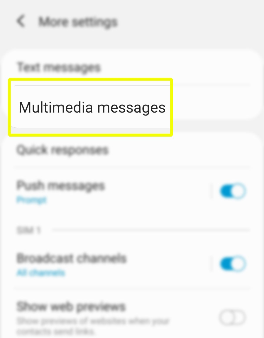 send messages on galaxy s20 as group conversations - multimedia messages