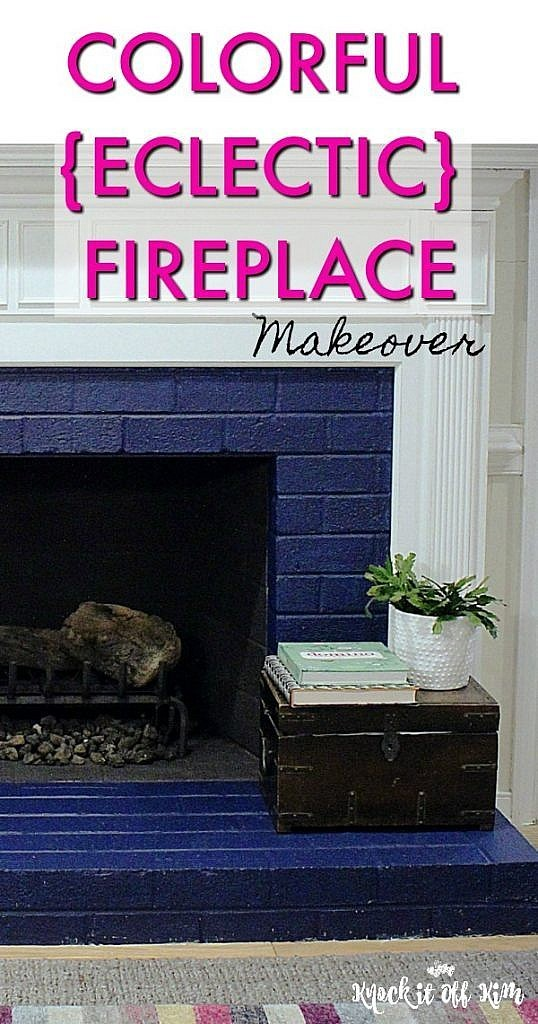Painted Brick Fireplace Colorful Bold Unexpected How To Tutorial