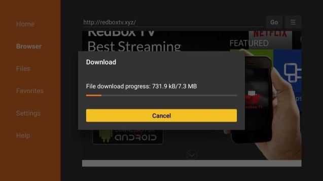 steps to install Redbox TV apk
