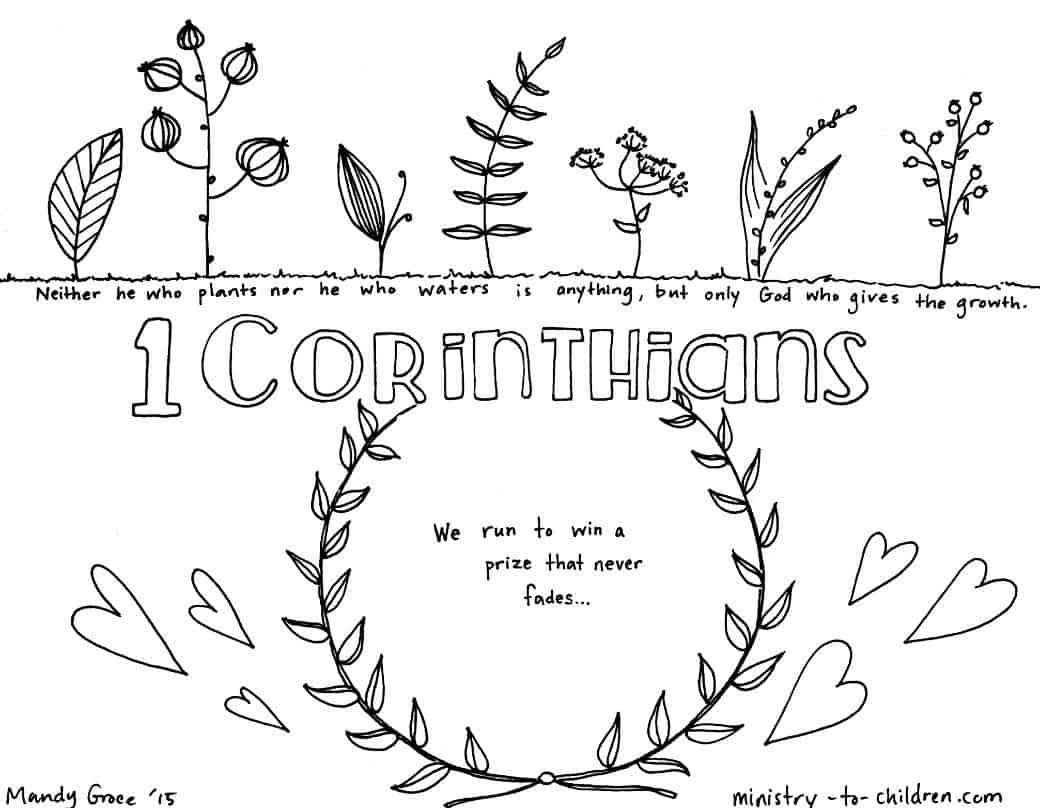 1 Corinthians Bible Book Coloring Page