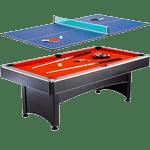 Hathaway Maverick 7-foot Pool and Table Tennis Multi-Game
