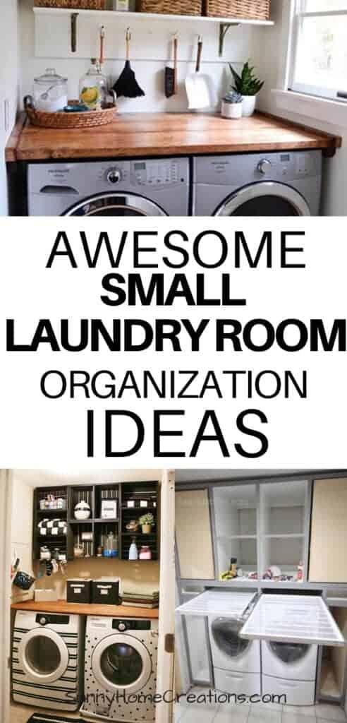 Small Laundry Room Organization Ideas - Sunny Home Creations on Small Laundry Room Organization Ideas  id=66106