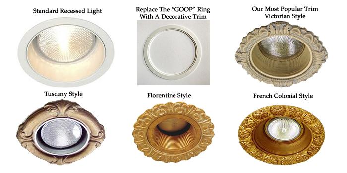 decorative recessed light trim