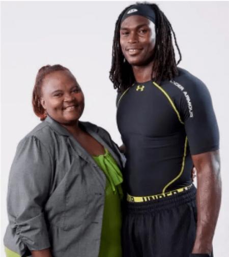 Julio Jones with his mother, Queen Marvin.