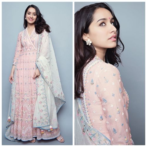 Shraddha Kapoor look in a Lucknowi Anarkali Dress