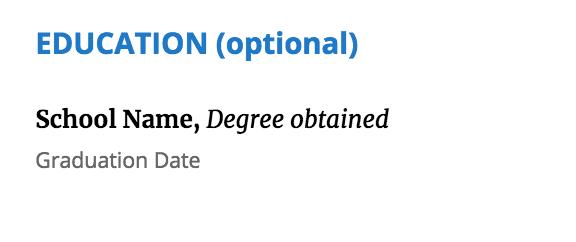 resume-education-data-science