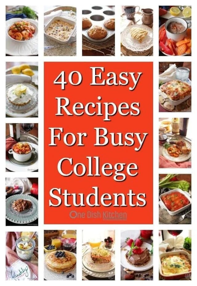 40 Easy College Recipes Simple Single Serving And Small Batch That Can Be Made
