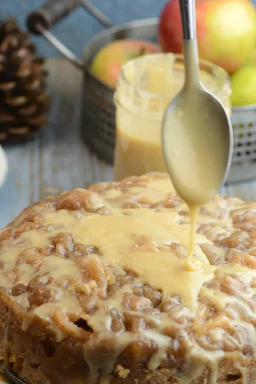 Instant Pot Bread APPLE BREAD WITH SALTED CARAMEL ICING