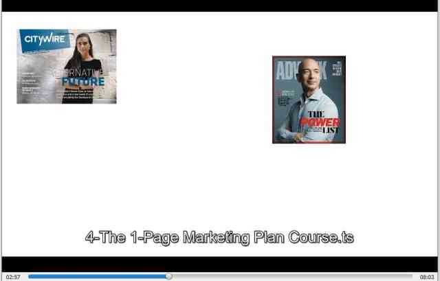The 1-Page Marketing Plan Course by Allan Dib buy