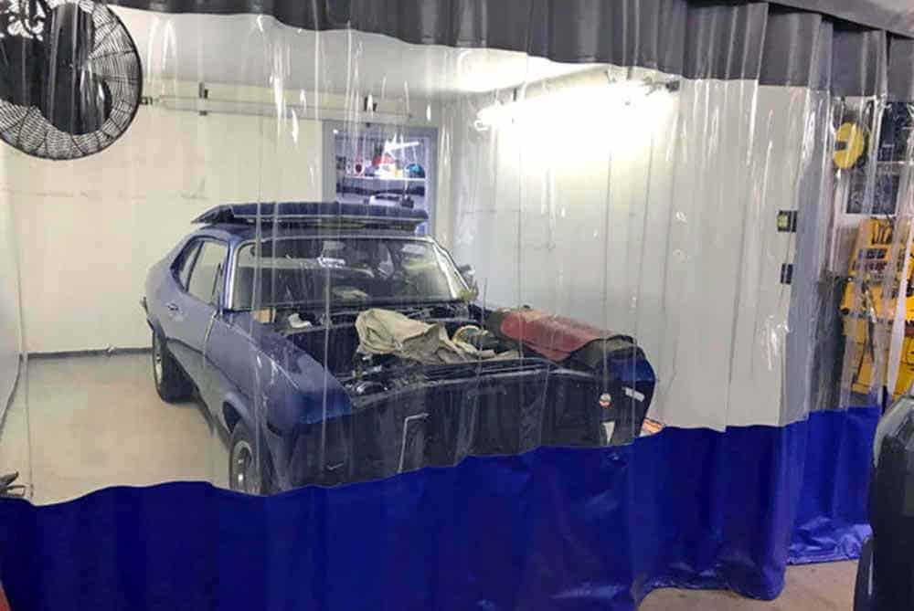 aluminum repair curtains garage