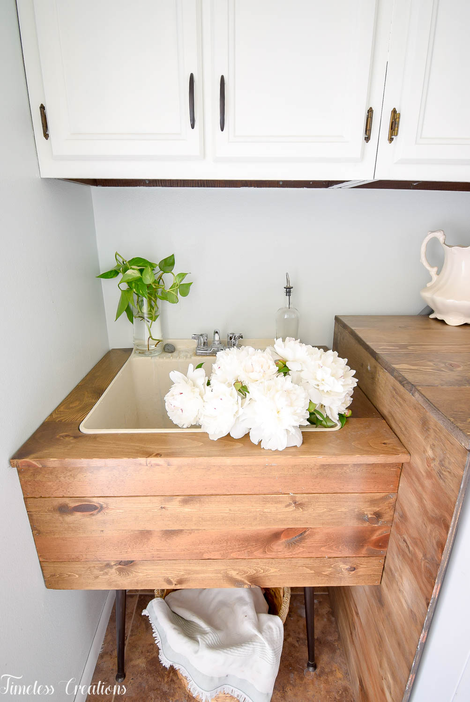 diy utility sink makeover timeless