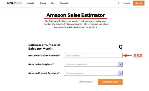jungle scout free sales estimator