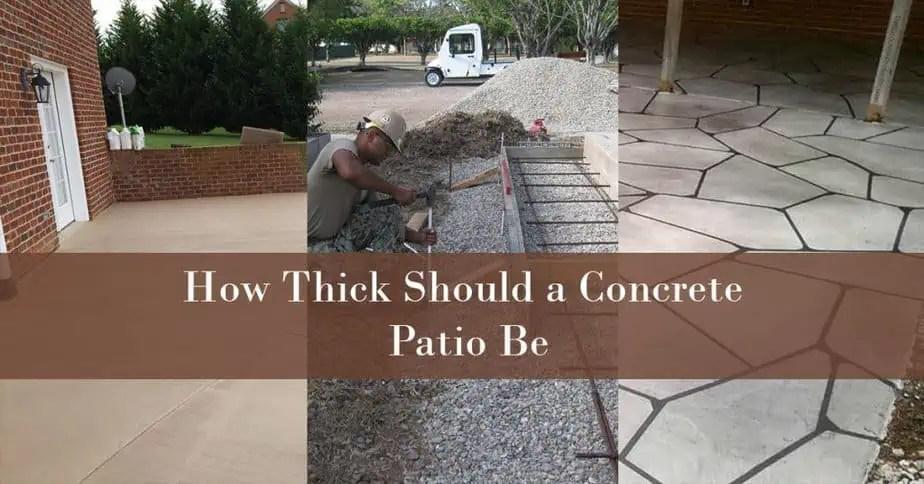 how thick should a concrete patio be
