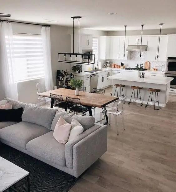 Optare per unire cucina e soggiorno in un open space di 25 mq ha un. Come Arredare Un Soggiorno Rettangolare Con Cucina Casa Magazine