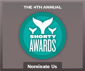 Nominate Mariah Carey for a social media award in the Shorty Awards!